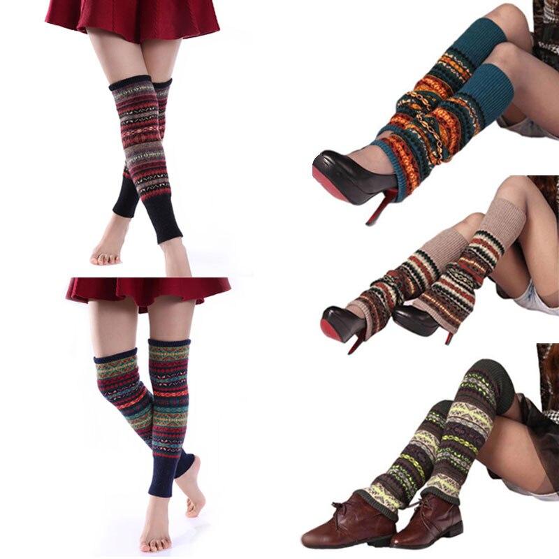 1 elegante par nueva bota mujer Calcetines invierno Bohemia alto ...