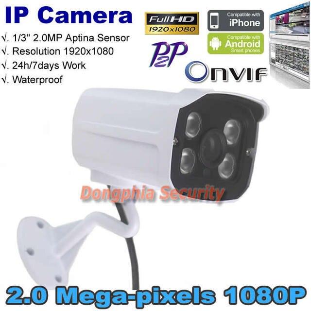 Full hd 2.0mp onvif p2p ip kamery 1080 p sony exmor imx122 z ircut filtr remote view wsparcie motion detect wodoodporna na zewnątrz