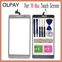 OLPAY 6.5'' For Doogee Y6 Max Touch Screen Digitizer Panel Repair Parts Touch Screen Front Glass Lens Sensor