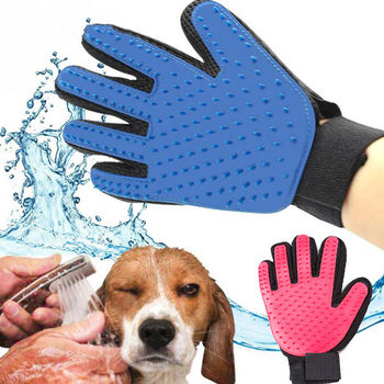 Rubber Dog Pet brush Glove Deshedding Gentle Efficient Pet Grooming Glove Dog Bath Cat cleaning Supplies Pet Glove Dog combs