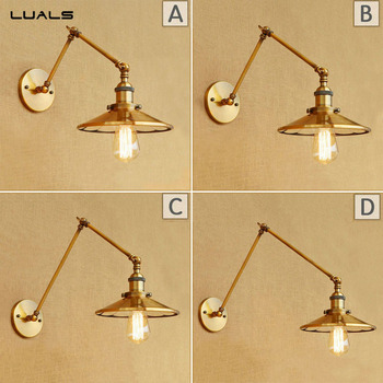 Loft style Industrial Wall Light Adjustable Retro Wall Lamp For Restaurant Metal Edison indoor wall lights art deco lighting