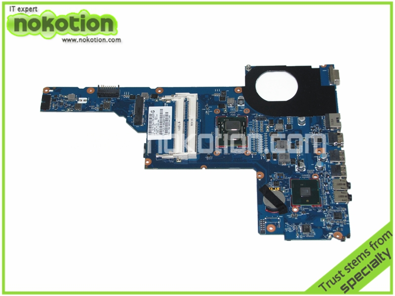 NOKOTION 653087-001 Laptop motherboard For HP Pavilion G6 G6-1000 Intel i3-370M CPU onboard DDR3 nokotion 653087 001 laptop motherboard for hp pavilion g6 1000 series core i3 370m hm55 mainboard full tested