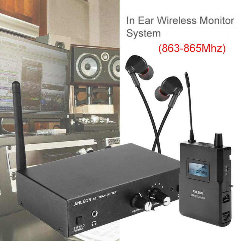 For ANLEON S2 Wireless In-ear Monitor System UHF Stereo IEM System Stage Monitoring 863-865Mhz NTC Antenna Xiomi