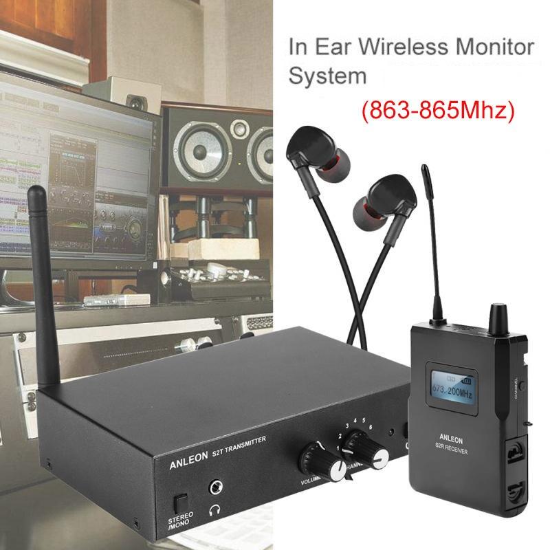 Para a monitoração estereofônica sem fio da fase do sistema do iem da frequência ultraelevada do sistema do monitor de anleon s2 antena 863-865 mhz ntc xiomi