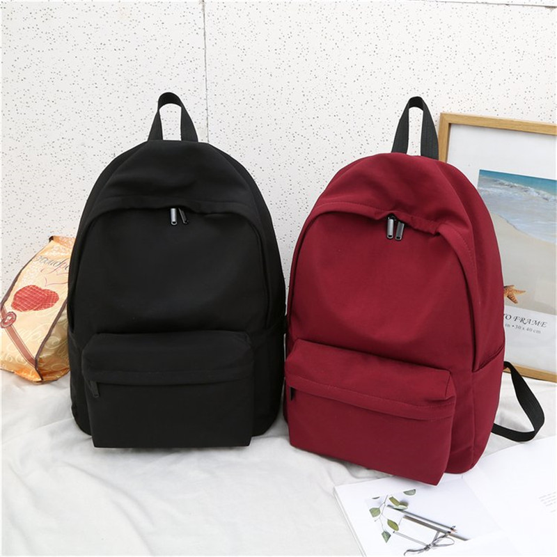 Solid <font><b>Backpack</b></font> Brand High Quality Large Capacity Leisure Or Travel Bag Water Proof Oxford School Bag for Teenage girls Package image