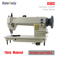 0302 Industrial sewing machine, fur,leather,BateRady thicken sewing machine.suit for Thick fabric material luggage,gloves