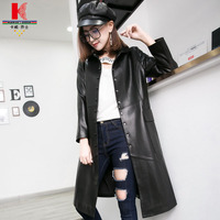 Leather Jackets Cheap Women's Length Leather Coats Long Winter Cool Jackets Womens Lambskin Coat The Leather Jackets For Women