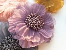 Grands patchs en dentelle et fleurs perlées de 7.5cm, appliques de couture pour vêtements