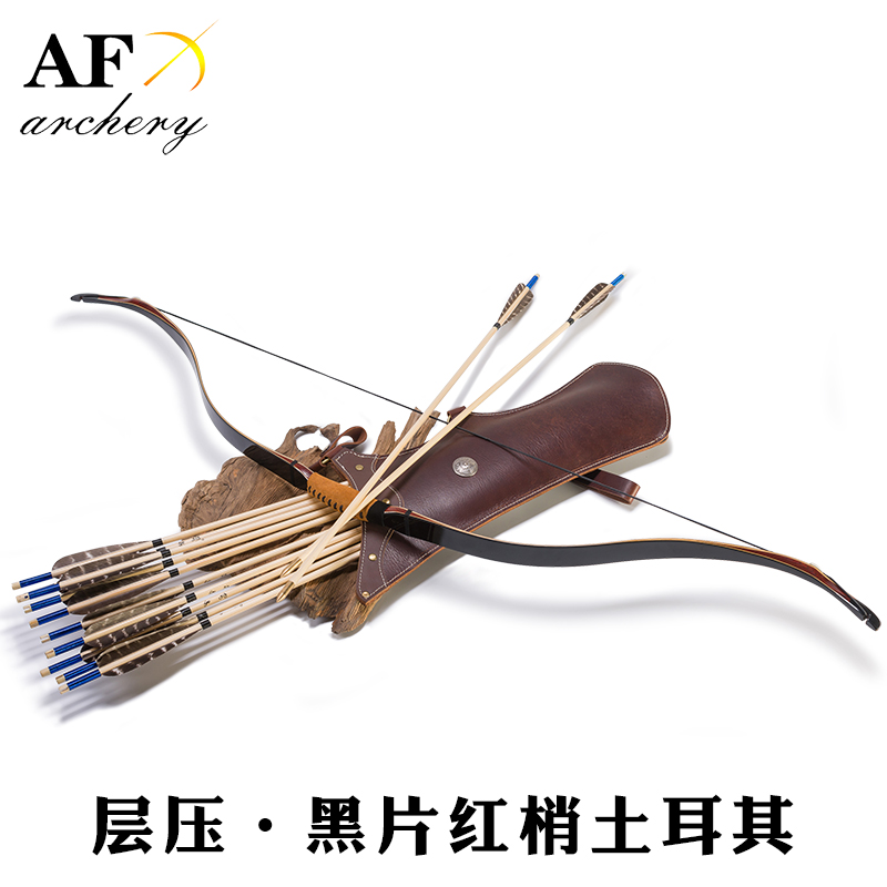 """49"""" Customized 20-55# Archery Turkish Bow Traditional Laminated Bow Handmade Recurve Bow Outdoor Hunting Shooting Longbow"""