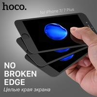 HOCO For IPhone 7 7 PLUS 3D Soft Edge Flexible Tempered Glass Film Transparent Anti Blue
