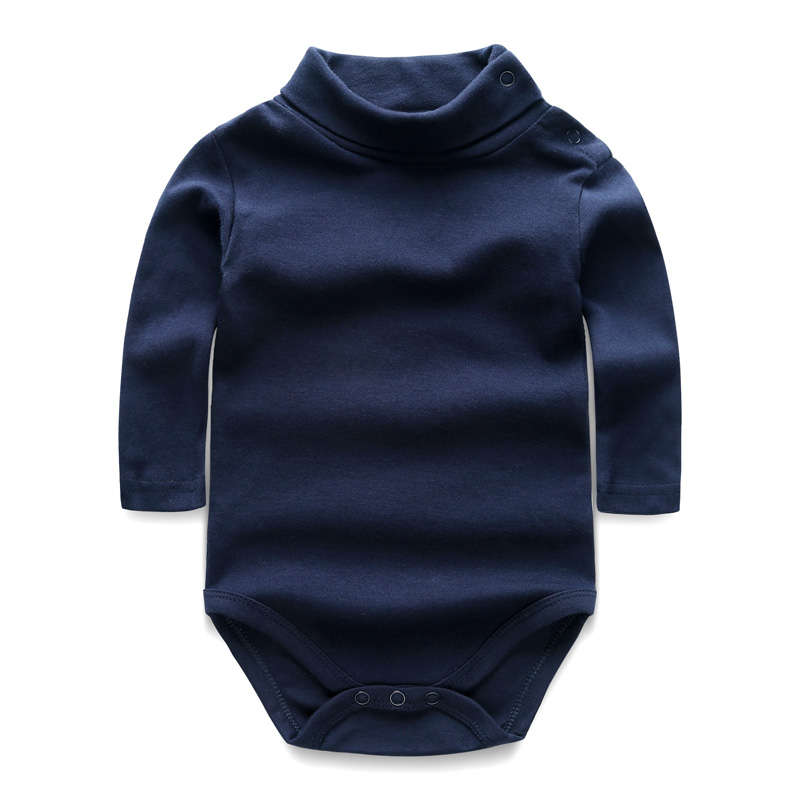 Baby Clothes Newborn Boys and Girls Jumpsuits Long Sleeve 100%Cotton Solid Turn-down Baby Rompers Infant Baby Clothing Product hhtu baby rompers jumpsuits baby girls clothing children autumn newborn baby clothes cotton long sleeve climb clothes