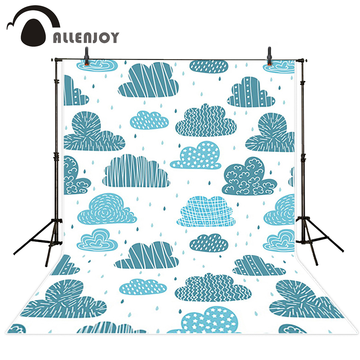 Allenjoy studio Photo background blue rain pattern clouds classical photocall photography excluding stand 300*200cm(10ft*6.5ft) clouds without rain