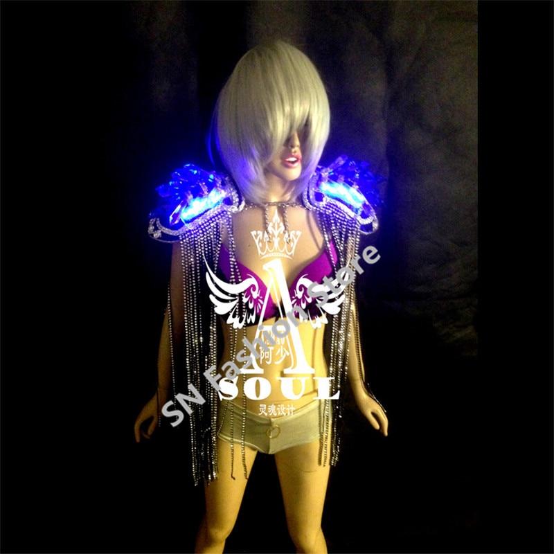 WX06 Laulja LED valgus tantsu tantsusaalide kostüümid dj disco - Pühad ja peod - Foto 2