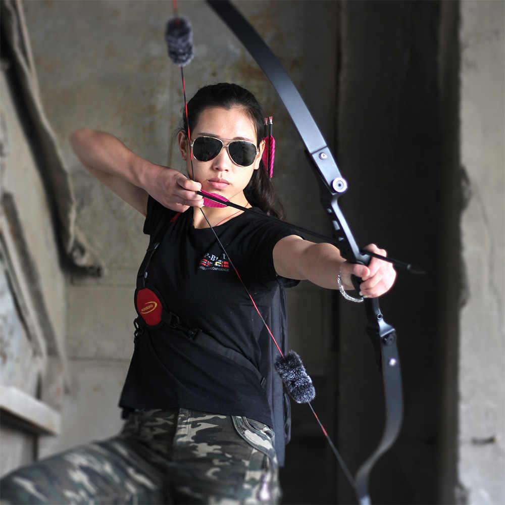 "Arco recurvo de fuego ZBG ilf, arco de caza, brazos de apoyo laminados y elevador de aleación de aluminio, arco de tiro con arco de 60"""