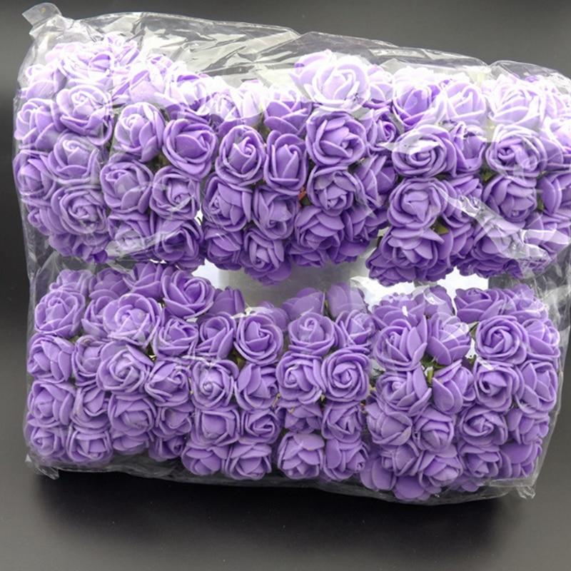 Искусственный цветок розы шт. 2 см мини пена свадебное оформление автомобиля БУКЕТ ПЕНЫ Роза свадебное украшение цветок многоцветный Роза 144