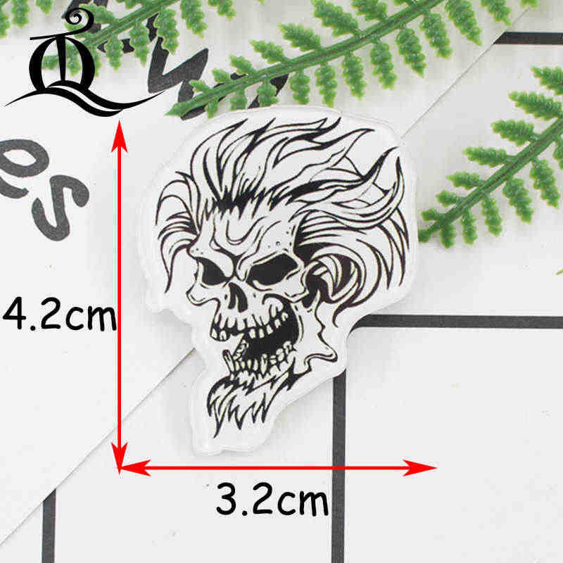 1 PC Dilukis Tangan Skeleton Seri Akrilik Lencana Kawaii Lencana Ikon Di Ransel Lencana untuk Pakaian Pin Bros 79