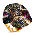 New Arrival AAA Cubic Zirconia Stone Gold Color ring Lead Free Gold and Platimum Plated Party Jewelry