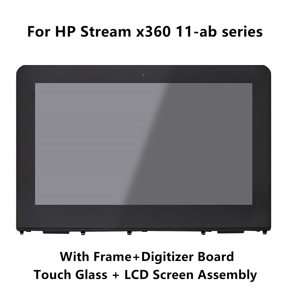 LCD Display Touch Screen Digitizer Assembly+Frame For HP Stream x360 11-ab series 11-ab000nl 11-AB045tu 11-ab043tu 11-ab030tu недорго, оригинальная цена