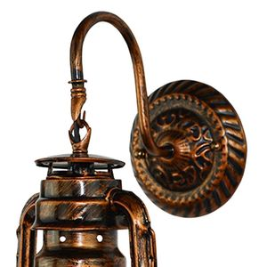 Image 5 - Vintage Led Wandlamp Retro Kerosine Wandlamp Schuur Lantaarn Europese Rustieke Antieke Stijl
