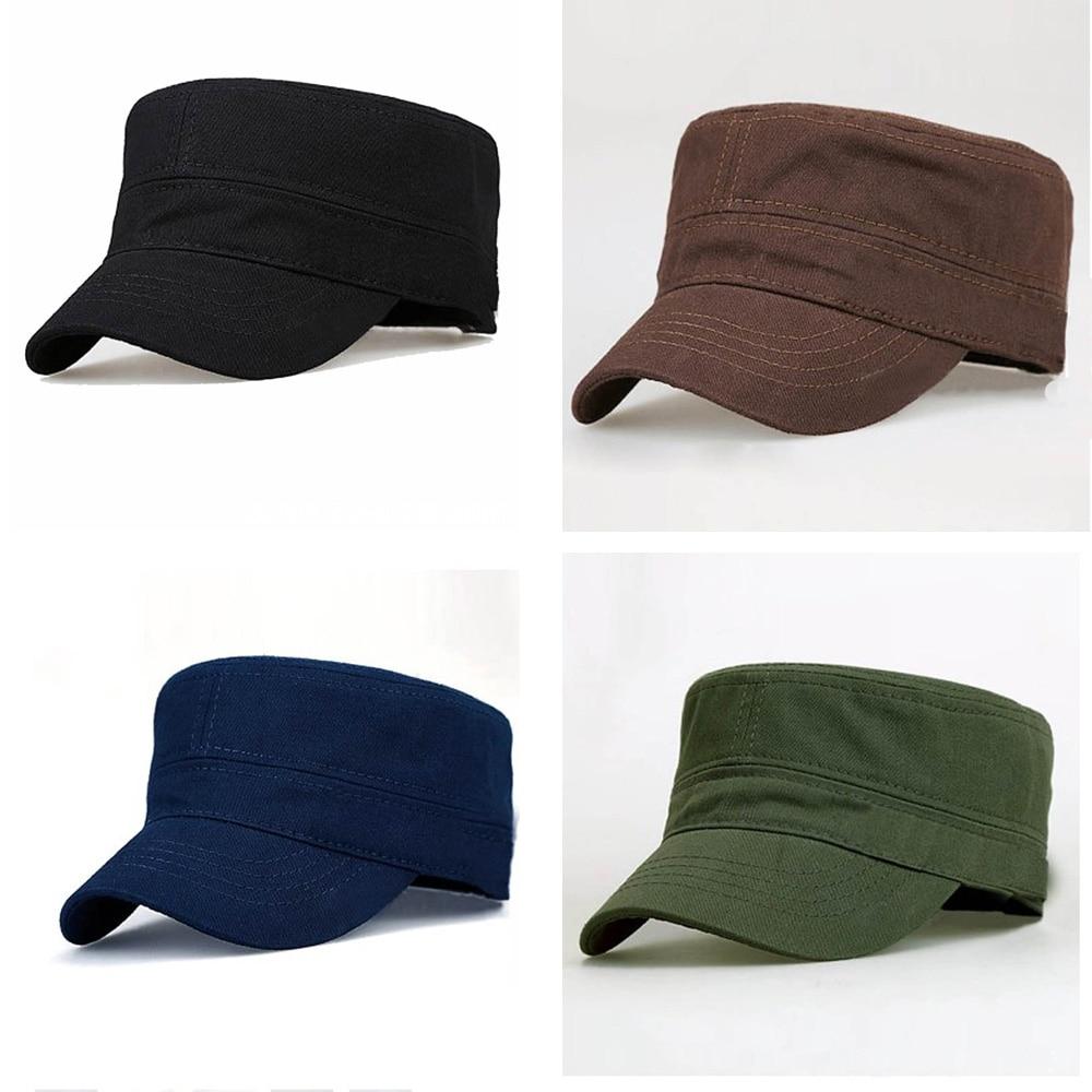 Mens Summer Sun Flat Caps Cadet Combat Army Military Sport Outdoor Casual Caps