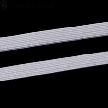 DoreenBeads Terylene Jewelry Cord Elastic Band White Beige 1.7mm( 1/8