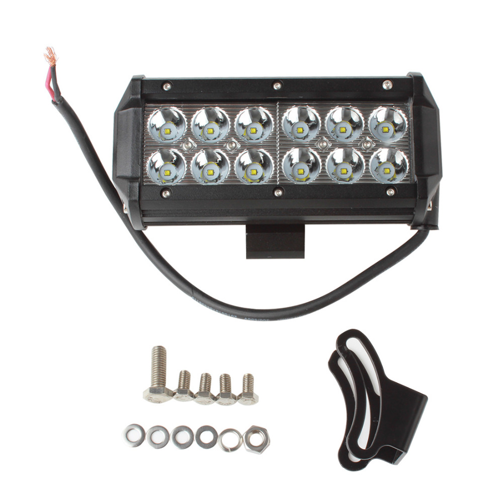 2pcs 7 Inch 36w Car Led Work Light Bar Spot Flood Off Road Aliexpresscom Buy 43 288w Cree Wiring Kit Worklight For Auto Offroad Suv Atv Boat Truck Driving Lamp In From Automobiles