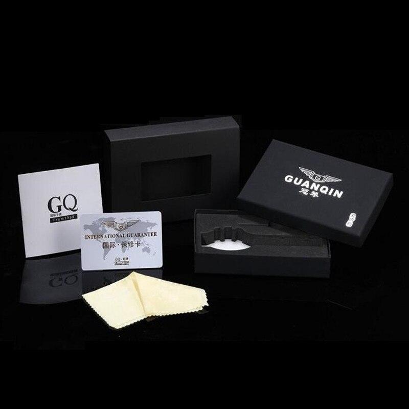 f84f55f1232c 2016 de la marca de lujo de GUANQIN relojes mecánicos automáticos hombres  impermeable luminoso reloj Calendario