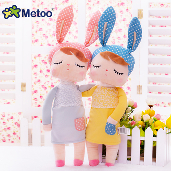 Kawaii Plush Stuffed Animal Cartoon Kids Toys for Girls Children Baby Birthday Christmas Gift Angela Rabbit Girl Metoo Doll