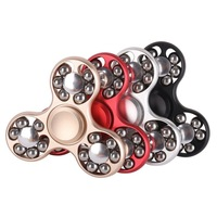 6 Style Colorful Creative Metal EDC Hand Spinner ADHD Rotation Time Long Anti Stress Toys Kid