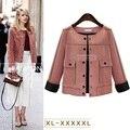 5xl плюс большой размер пальто женщины весна осень зима 2017 feminina замши faux мода тонкий пиджак пальто кардиган женский A2433