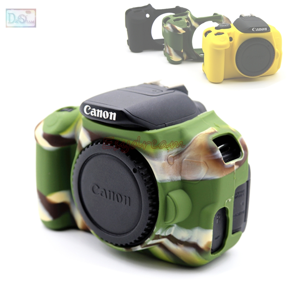 Rubber Silicon Case Body <font><b>Cover</b></font> Protector Soft Frame Skin for <font><b>Canon</b></font> EOS 650D <font><b>700D</b></font> Kiss X6i X7i Rebel T4i T5i Camera image