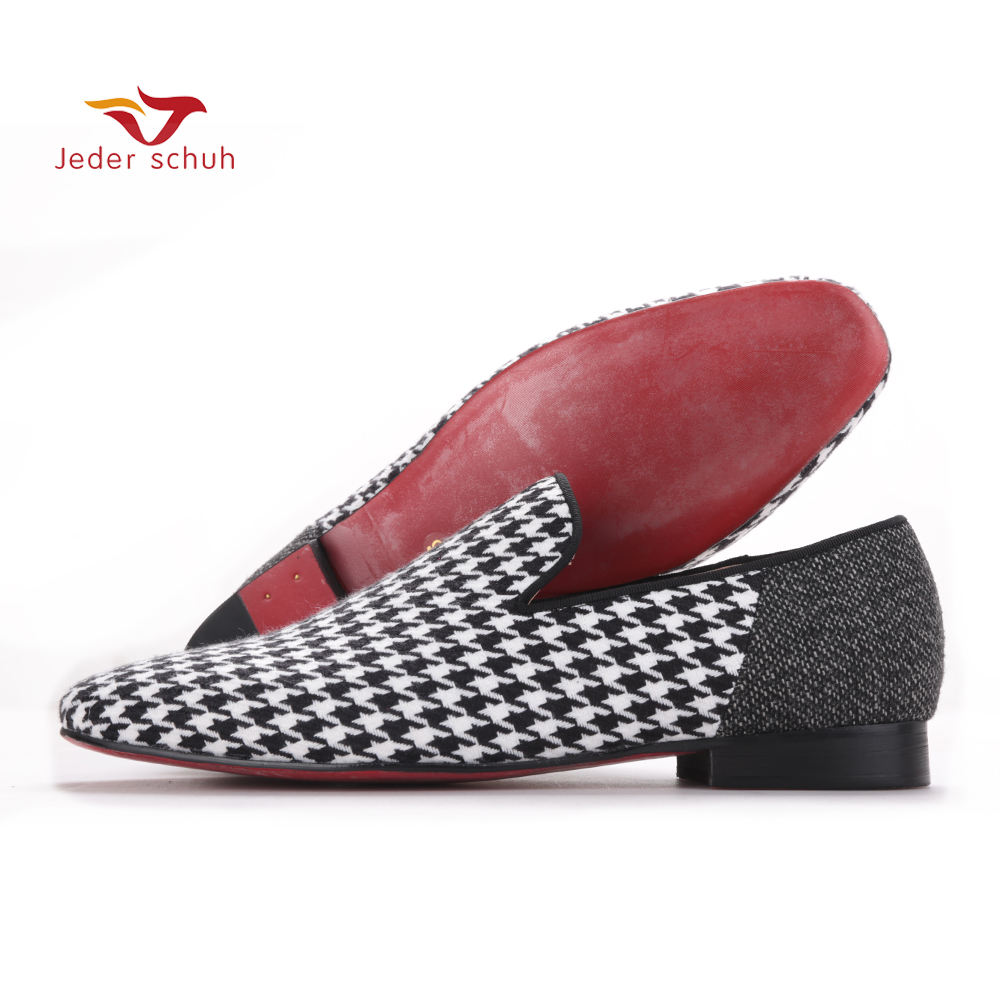 Jeder Schuh 2017 Handmade men flats shoes with Swallow gird patchwork Party and Banquet men dress shoes big size men loafers