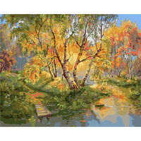 Forest River DIY Painting By Numbers Acrylic Paint By Numbers HandPainted Oil Painting On Canvas For
