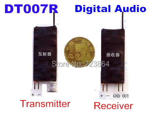 UHF digital signal wireless audio transceiver Transmitter Module + receiver moduleUHF digital signal wireless audio transceiver Transmitter Module + receiver module