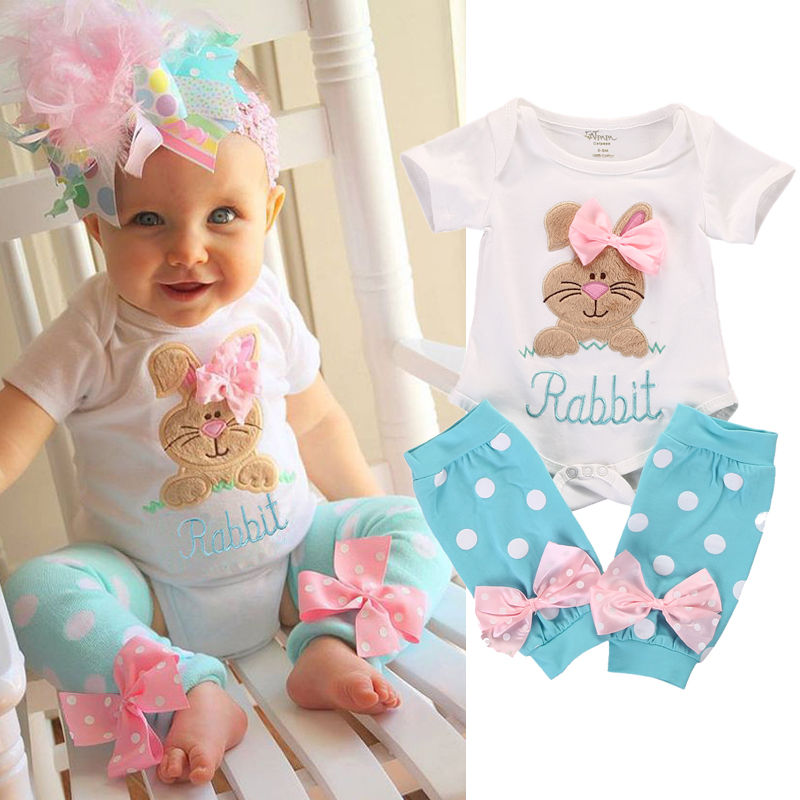 2pcs Newborn Infant Kids Baby Girl Romper+Leg Warmer Clothes Bodysuit Outfit Set