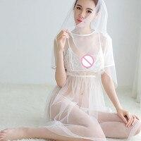 Womens Sexy Lingerie Erotic Christmas Lingerie Fetish Lingerie Sleepwear Transparent Underwear Dress Bras Briefs Mantilla