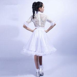 Image 4 - ガールズラテンダンスドレストップス + スカート社交ダンスドレス子供子タンゴダンス衣装ステージパフォーマンス