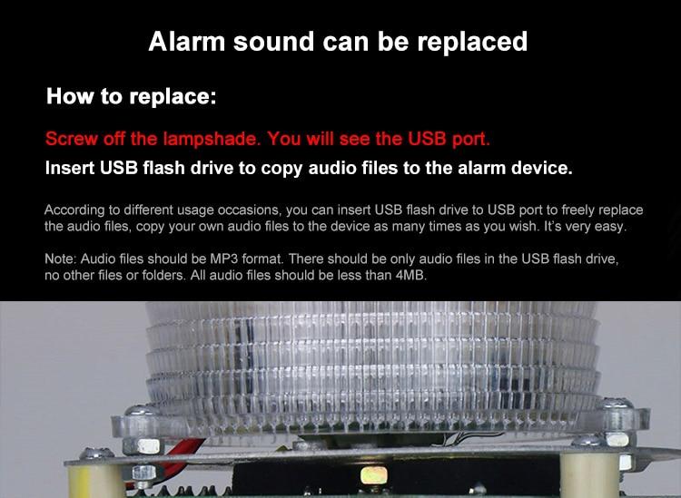 120db ao ar livre alarme audível e