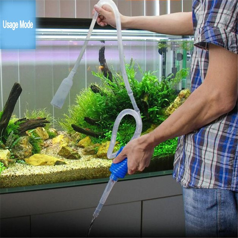 103cm aquarium manual cleaner tool siphon gravel suction for Outdoor fish tank filter