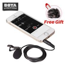 BOYA BY-LM10 Smartphones Microfone De Lapela Omnidirecional Telefone Gravação De Áudio e Vídeo para o iphone 6 6 s 5 S6 S5 Sumsang S4 HTC
