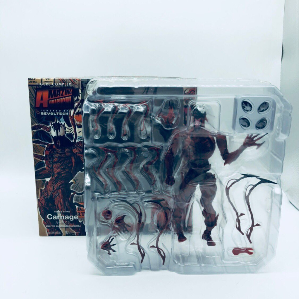 Revoltech Amazing Red Venom Carnage Amazing Captain America Spiderman Magneto Wolverine X-men Action Figures Toy Doll (47)