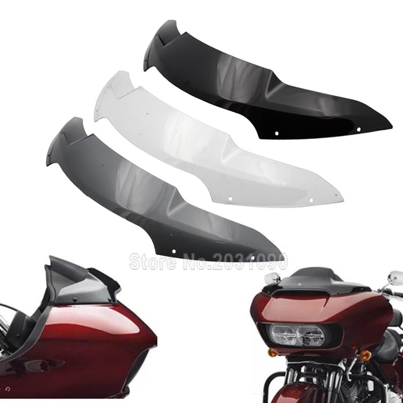 Popular Brand Chrome Motorcycle Windshield Side Trim Streamline Front Adornment Case For Harley Road Glide Models Fltru Fltrx 2015 2016 2017 Frames & Fittings Motorcycle Accessories & Parts