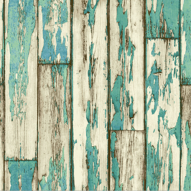 New 4 Color Retro Rustic Wood Background Wallpaper 3D Striped For Living Room
