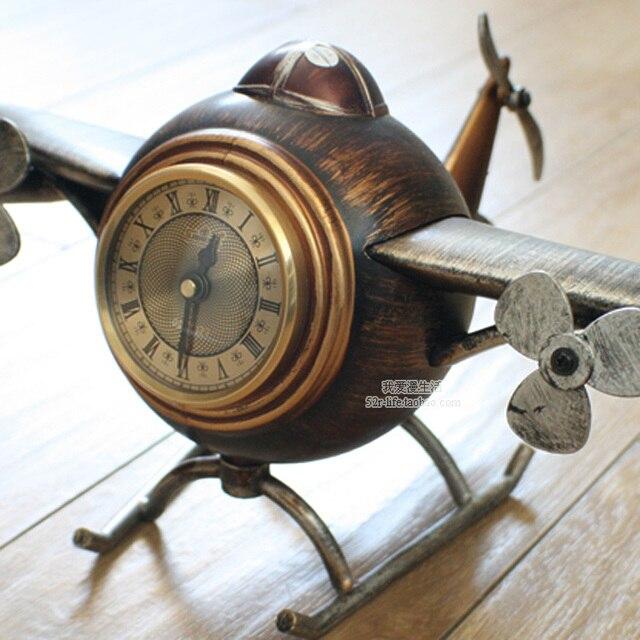 Free Shipping via DHL Vintage Style desk table clocks alarm clock Digital  Plane Model Personalized Decoration - Free Shipping Via DHL Vintage Style Desk Table Clocks Alarm Clock