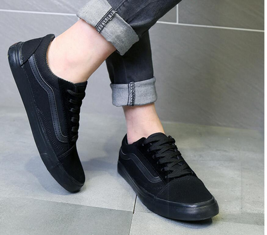 2018 all black canvas shoes men's shoes in the spring tide han edition fashion leisure shoes joker black cloth стоимость