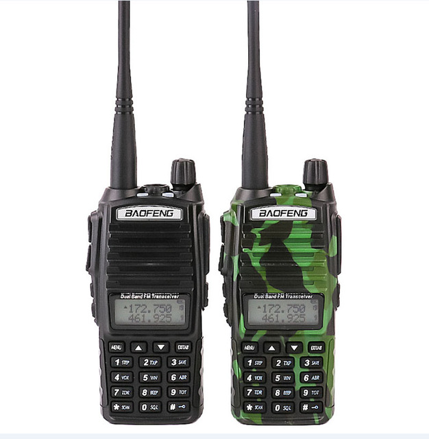 US $50 8 20% OFF|On sale 2pcs car walkie talkies Set with FM Vox mobile cb  radio uhf scanner police walky talky professional baofeng uv 82 uv 82-in