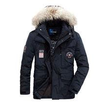 Теплая ветровка Для мужчин зимнее пальто пуховик большой Размеры