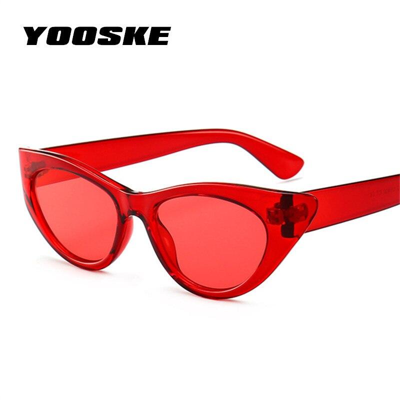 09f7fe1fcea YOOSKE Fashion 90s Sunglasses Women Cat Eye Luxury Brand Designer Sun  Glasses ladies Retro Small Cateye Sunglass Black Eyewear. Buy CHEAP here!