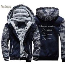 Name The Triangles Funny Math Hoodies Men Sarcasm Novelty I Love Sweatshirts Coats Winter Thick Fleece Warm Jackets Mens