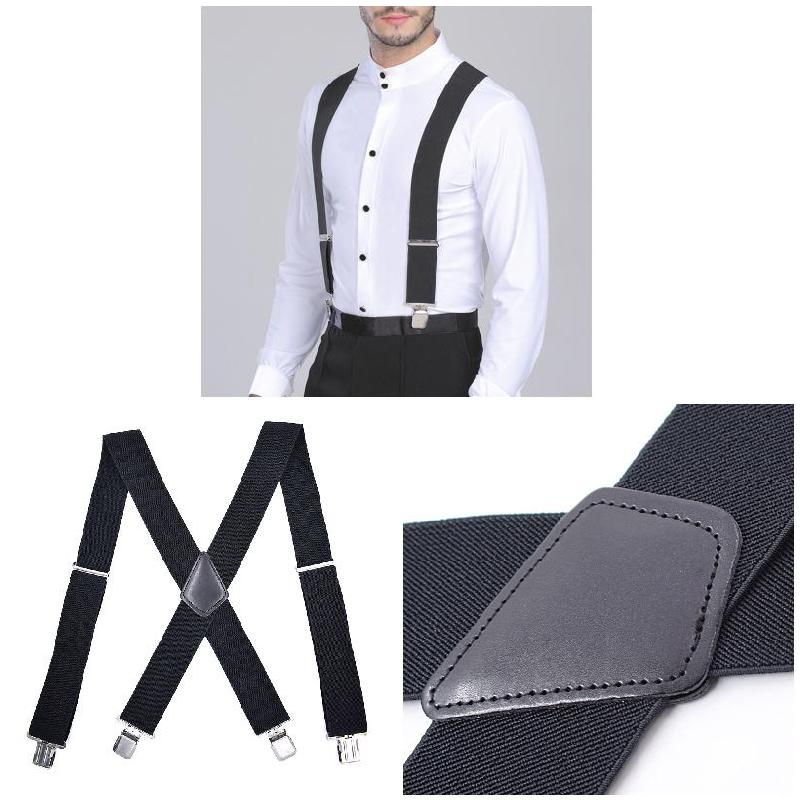Fashion 2019 Hot 50mm Wide Elastic Adjustable Men Trouser Braces Suspenders X Shape With Strong Metal Clips SMA66